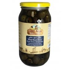 Mounit el Bait - Pitted Black Olives (12 x 1000 g)