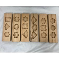 Ma'amoul Mold Wood Assorted Designs - 3 Stamps