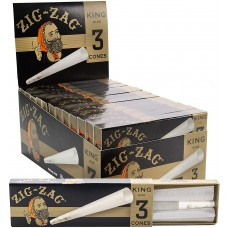 Rolling Paper - Zig Zag Cone King Size (24 Packs of 3)