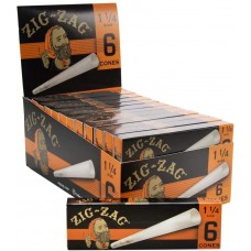 Rolling Paper - Zig Zag Cone 1 1/4  (24 Packs of 6)