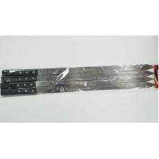 Stainless Steel BBQ Skewers w/Wood Handle (60x2) (Set of 4)