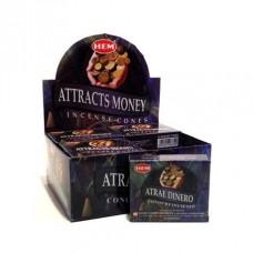 Hem Dhoop Cones - Attract Money Incense
