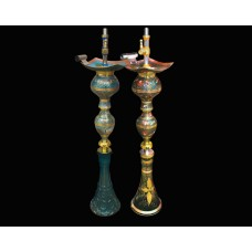"""38"""" Twist & Lock Babylon Hookah with Indian Handcraft Design"""