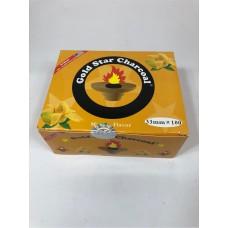 Gold Star Flavoured Charcoal 33 mm - Mango (10 Rolls/Box)