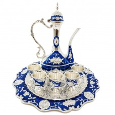 Oriental Set W/ Cups & Tray & Dallah - Royal