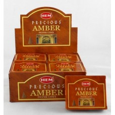 Hem Dhoop Cones  Amber  Incense