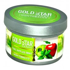Gold Star Herbal Molasses 200g - Two Apples & Mint