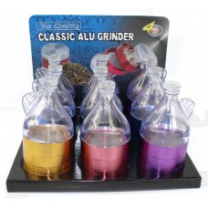 Chelax Aluminum Grinder With Funnel - 3 Piece