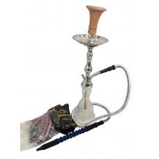 Golden Yahya - 24'' Egyptian Style Brass Hookah Kit