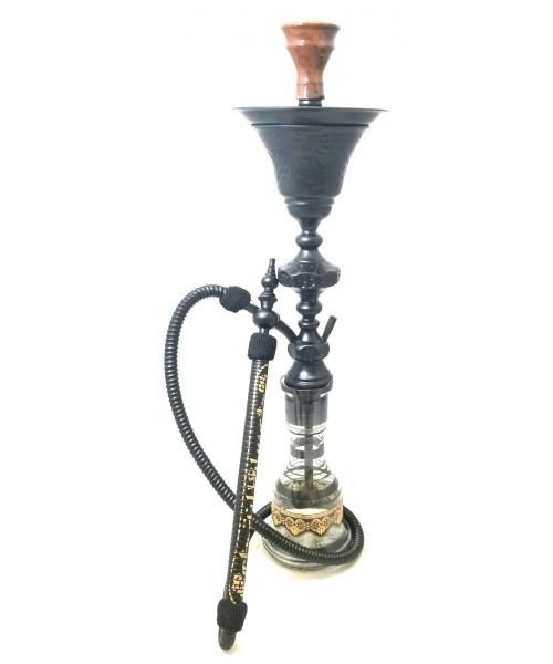 "Sultana Hookah - 1001 Nights Single Ice - Black Matte (32"")"