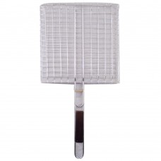 Grill Net With Wood Handle (26 CM x 26 CM)
