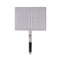 Grill Net With Wood Handle (31 CM x 31 CM)