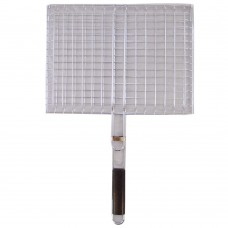 Grill Net With Wood Handle (41 CM x 31 CM)