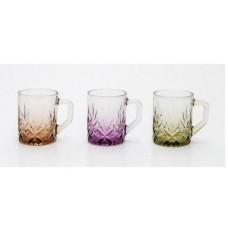 Mixed Colors Cups W/ Handle (3 Pcs) 210 cc - HW-MC-3-001