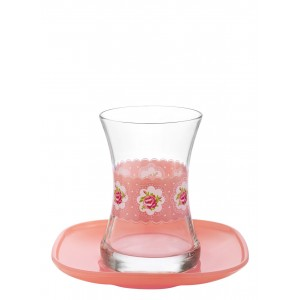 Tea Cups & Saucer - Set of 12 - 155CC (PSH038)