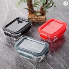 Glass Storage Container W/Plastic Lids - 1040ml