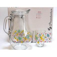 Glass Jug Set w/ 6 Glasses - Aloha (1400 cc) (PSH039)