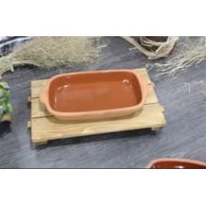 Casserole Clay Dish 30cm - Rectangle - PSH010
