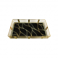 Fancy Serving Tray W/Abstract Design