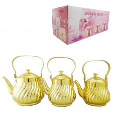 Tea Pot Gold - Stainless Steel - Fancy - 0.9L/1.3L/1.6L