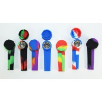 Silicone Hand Pipe 3.5 Inch W/ Metal Screen & Lid