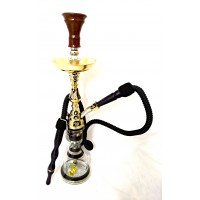 "Sultana Hookah - Mini Diamond - Gold brushed w/ Black (22"")"