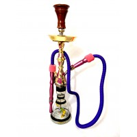 "Sultana Hookah - Mini Candle Stick - Gold brushed w/Purple (22"")"