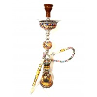 "Sultana Hookah - Sadaf Single Orb w/Ice - Orange (32"")"