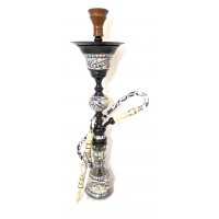 "Sultana Hookah - Sadaf Colored II - Black Glossy (35"")"