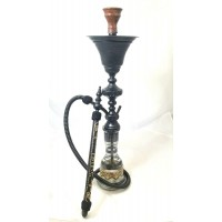 Sultana Hookah - 1001 Nights Single w/Ice Chamber (32 Inch) - Black