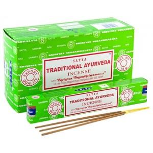 Incense - Nag Champa 15g Traditional Ayurveda (Box of 12)