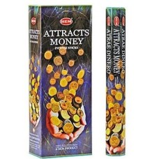 Incense - Hem Attracts Money (Box of 120 Sticks)