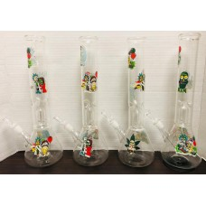 """Water Pipe - 12"""" Clear Assorted w/Percolator"""