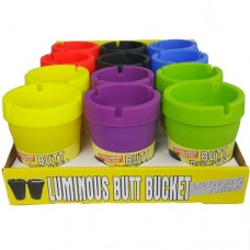 Ashtray - Butt Bucket - Assorted Colors (12/Display)