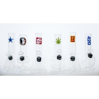 6 Inch Clear with Assorted Logo