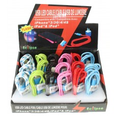 USB LED Cable For Iphone 3/3G/4/4S