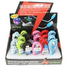 USB LED Cable For Samsung/Blackberry/LG