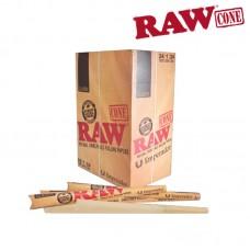 "Rolling Paper - RAW Classic Emperador 7"" Pre-rolled Cones (24 Units)."