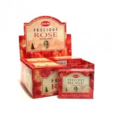 Hem Dhoop Cones - Red Rose Incense