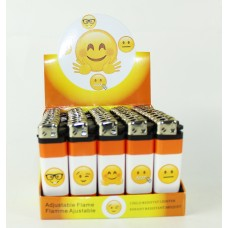 Disposable Fancy Lighters - Smiley Face III