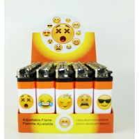 Disposable Fancy Lighters - Smiley Face I