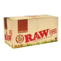 Raw Cone King Size Organic(32 Packs X 3 Cones / Pack)