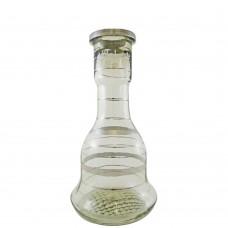 Sultana Glass Base - Silver Stripes (size 26)