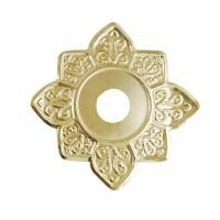 Sultana Hookah Tray - Flower Gold (23cm)