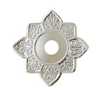 Sultana Hookah Tray - Flower Silver (23cm)