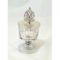 Glass Sugar Bowl w/Lid - 002