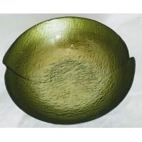 Glass Bowl (23cm) Matte Black/Green