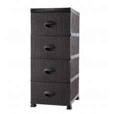 4 Drawers Storage Tower - Plastic