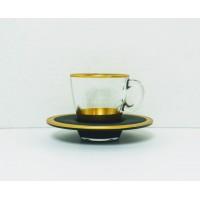 Cups w/ Handle & Saucer (12 Pcs) (72cc)