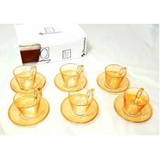 Cups w/ Handle & Saucer (12 Pcs) (XXcc)